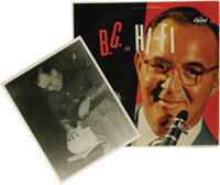 """Signed """"B. G. in Hi-Fi - Benny Goodman"""" Capitol W565 Mono LP, with Autographed Photograph (1954). The """"Ki..."""