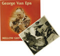 "Music Memorabilia:Autographs and Signed Items, Signed ""George Van Eps - Mellow Guitar"" Corinthian COR-121 StereoLP, with Autographed Al White Silver Print (undated). Geor..."
