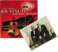 """Music Memorabilia:Autographs and Signed Items, Signed """"The Jazz Violin of Joe Venuti - Once More With Feeling""""Ovation Records OV/14-04 Stereo LP, with Autographed Al White ..."""