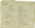 "Music Memorabilia:Documents, Mercer Ellington -- Hand Written ""Set List"" of Songs (undated). Inthe 1940s Mercer Ellington (1919-1996) wrote several nota..."