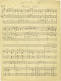 "Music Memorabilia:Documents, Duke Ellington - ""Million Years,"" 2-page Hand Written Score(undated). For the true jazz aficionado, few pieces would make a...(Total: 2 Items)"
