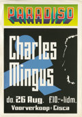 Music Memorabilia:Posters, Charles Mingus Paradiso Concert Poster (circa early 1970s). One ofthe true giants of jazz, Charles Mingus has played bass w...