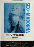"Music Memorabilia:Memorabilia, Madonna ""Sex"" Japanese Edition. A copy of the Japanese firstedition of this infamous book that is still sealed in its orig..."
