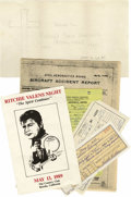 Music Memorabilia:Memorabilia, Ritchie Valens Funeral Lot. In the early morning hours following aFebruary 2, 1959 performance at the Surf Ballroom in Cle...