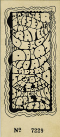 """Music Memorabilia:Tickets, Grateful Dead - Southern California ticket (1968). A really """"grate""""ticket from Santa Barbara, California. This was a ticket..."""