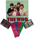 Music Memorabilia:Tickets, The Who - Group of 7 (1982). A great little batch of stuff from theloudest band in the world. At one time, with amplifiers,... (Total:7 )