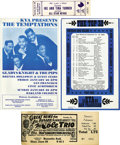 Music Memorabilia:Tickets, Music Flyer and Tickets Lot. Featured here is an unused ticket for a June 6, 1949 performances by the Nat King Cole Trio and...