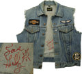Music Memorabilia:Costumes, Butthole Surfers Gibby Haynes' Autographed Jacket w/PersonalEffects. Texan Gibby Haynes went from Rock Underground cult her...(Total: 8 Items)