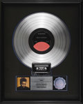 Music Memorabilia:Awards, Tracy Chapman Platinum Album Award. Commemorating the sale of onemillion copies of Chapman's eponymous 1988 debut LP, in E...