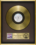 "Music Memorabilia:Awards, The Kinks ""Give the People What They Want"" Gold Album Award.Presented to KEGL in acknowledgement of the sale of 500,000 co..."