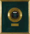 "Music Memorabilia:Awards, Slim Whitman ""Indian Love Call"" Imperial Gold Record Award (1958).If Slim hadn't recorded another song, he would have been ..."