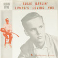 "Music Memorabilia:Recordings, Robin Luke ""Susie Darlin"" 45 w/Picture Sleeve Bertram International206 (1958). It's a mystery why Robin Luke became just a ..."