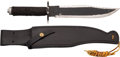 "Movie/TV Memorabilia:Props, ""Rambo"" Prototype Commando Knife with Leather Scabbard...."