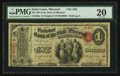 Saint Louis, MO - $1 Original Fr. 380a The NB of the State of Missouri Ch. # 1665