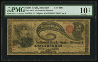 Saint Louis, MO - $2 Original Fr. 387a The NB of the State of Missouri Ch. # 1665
