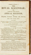 Books:Americana & American History, [Almanac]. The Royal Kalendar: or, Complete and Correct AnnualRegister, for England, Scotland, Ireland, and America for...