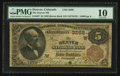 National Bank Notes:Colorado, Denver, CO - $5 1882 Brown Back Fr. 467 The Denver NB Ch. #(W)3269. ...