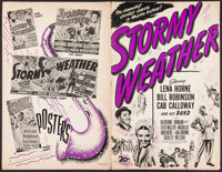 "Stormy Weather (20th Century Fox, 1943). Uncut Pressbook (20 Pages, 11.25"" X 17.25""). Musical"