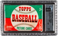 Baseball Cards:Unopened Packs/Display Boxes, 1952 Topps Baseball 5-Cent Unopened Wax Pack GAI NM 7 - Rosen Find....