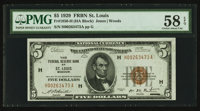 Fr. 1850-H $5 1929 Federal Reserve Bank Note. PMG Choice About Unc 58 EPQ