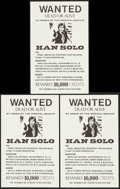 """Movie Posters:Science Fiction, Star Wars Wanted Posters (1970s). Unlicensed Posters (3) (11"""" X 17.5""""). Science Fiction.. ... (Total: 3 Items)"""