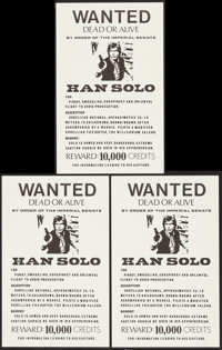 """Star Wars Wanted Posters (1970s). Unlicensed Posters (3) (11"""" X 17.5""""). Science Fiction. ... (Total: 3 Items)"""