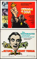 """Movie Posters:Horror, The Return of Count Yorga & Other Lot (American International,1971). Half Sheets (2) (22"""" X 28""""). Horror.. ... (Total: 2 Items)"""