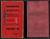 Warner Brothers Exhibitor Book Lot (Warner Brothers, 1928/1930). Softcover Exhibitor Date Books (2) (Multiple Pages, 4&q...