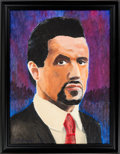 "Movie/TV Memorabilia:Original Art, A 'Fan Art' Oil Painting Related to ""Get Carter,"" 2000...."