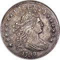 Early Dimes, 1798/7 10C 16 Stars Reverse, JR-1, R.3, AU55 NGC....