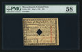 Colonial Notes:Massachusetts, Massachusetts May 5, 1780 $20 PMG Choice About Unc 58.. ...