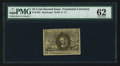 Fractional Currency:Second Issue, Fr. 1285 25¢ Second Issue PMG Uncirculated 62.. ...
