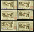 Obsoletes By State:Louisiana, (Baton Rouge), LA- State of Louisiana $5 circa 1870's, Six Consecutive Examples. ... (Total: 6 notes)
