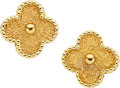 Estate Jewelry:Earrings, Gold Earrings, Van Cleef & Arpels. ...