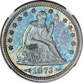 Proof Seated Quarters, 1873 25C Arrows PR66+ NGC. Briggs 5-D....
