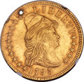 Early Eagles, 1795 $10 13 Leaves, BD-1, High R.3 -- Holed -- NGC Details. AU....