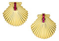 Estate Jewelry:Earrings, Ruby, Gold Earrings, Tiffany & Co.. ...