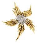 Estate Jewelry:Brooches - Pins, Diamond, Platinum, Gold Brooch, Jean Schlumberger for Tiffany & Co.. ...