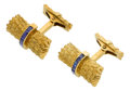 Estate Jewelry:Cufflinks, Sapphire, Gold Cuff Links, Tiffany & Co.. ...