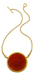 Estate Jewelry:Necklaces, Carnelian, Gold Necklace, Yossi Harari. ...