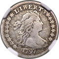 Early Dimes, 1797 10C 16 Stars, JR-1, R.4 -- Damaged -- NGC Details. VF....