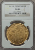 Colombia, Colombia: Ferdinand VII gold 8 Escudos 1819 NR-JF MS61 NGC,...