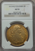 Colombia, Colombia: Ferdinand VII gold 8 Escudos 1812 NR-JF AU55 NGC,...