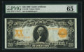 Large Size:Gold Certificates, Fr. 1186 $20 1906 Gold Certificate PMG Gem Uncirculated 65 EPQ.....