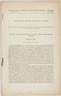 Books:Americana & American History, [American History]. Annexation of the Hawaiian Islands. May 17,1898. 55th Congress, 2d Session. House of Representative...