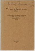 Books:Travels & Voyages, [Travels]. Voyages to Hawaii before 1860: A Study Based on Historical Narratives in the Library of the Hawaiian Mission ...