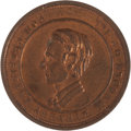 """Political:Tokens & Medals, Abraham Lincoln: Very Rare 1860 Campaign Medalet, Mulled with Confederate """"Wealth of the South"""" Reverse...."""