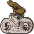 Political:Pinback Buttons (1896-present), Bryan & Sewell: Rare Mechanical Bicycle Jugate Pin....