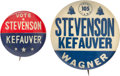 Political:Pinback Buttons (1896-present), Adlai Stevenson: Pair of Scarce Name Pins.... (Total: 2 Items)