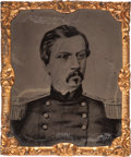 Political:Ferrotypes / Photo Badges (pre-1896), George McClellan: Abbott Tintype....